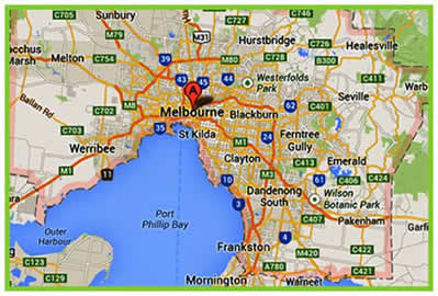 Cabsinmelbourne service area map